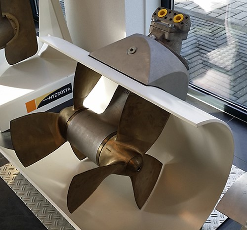 A Hydrosta bow thruster, powered by a Sunfab motor